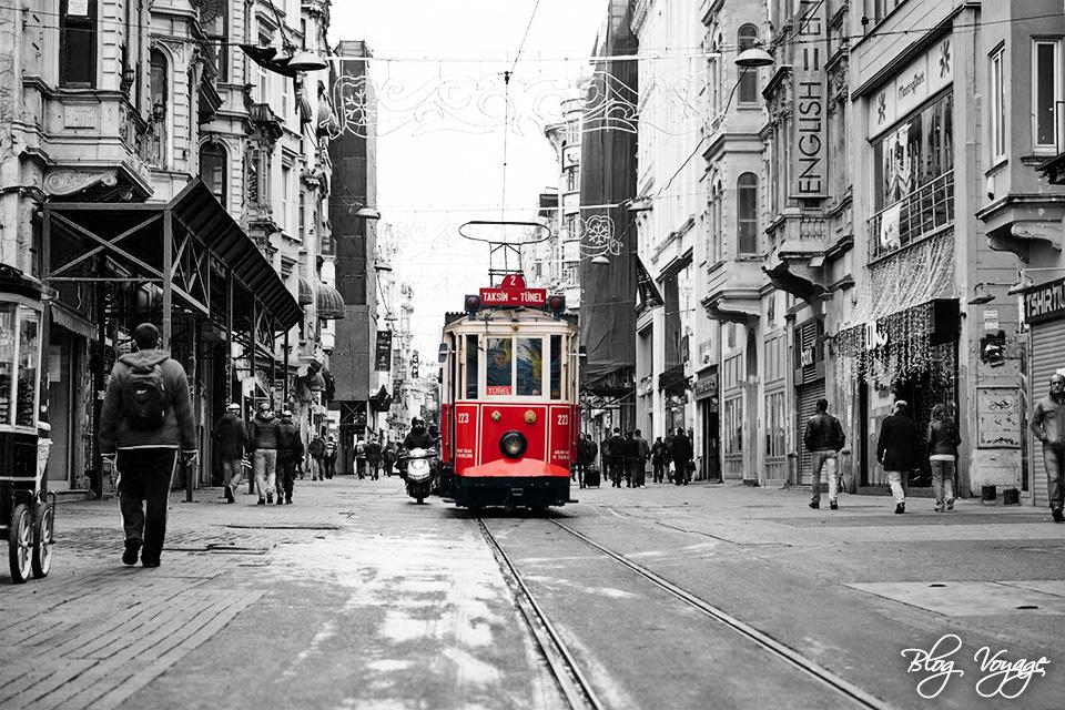Исторический трамвай в Стамбуле, Бейоглу