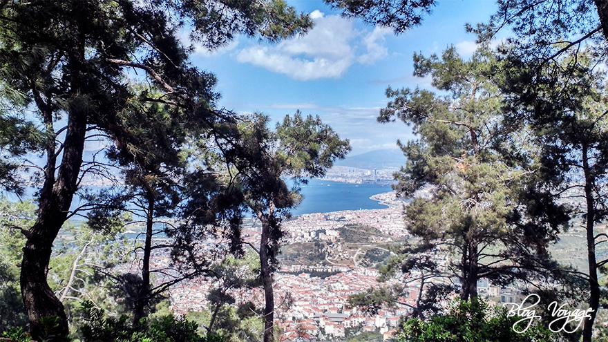 Вид на Измир с Телеферика