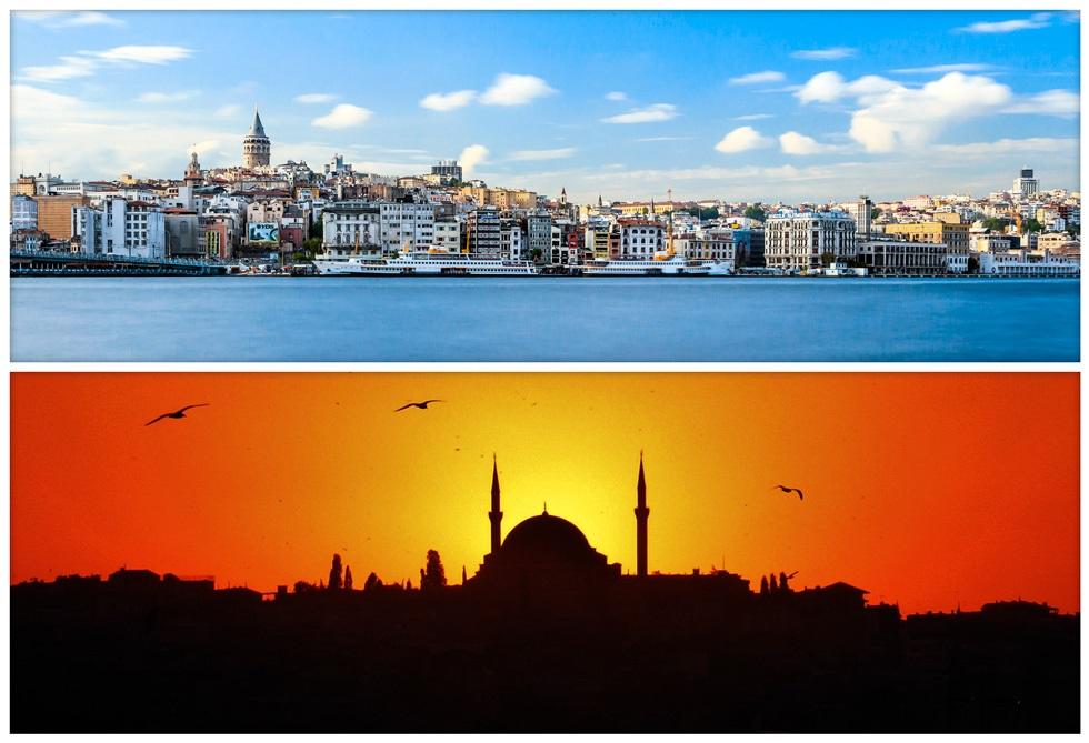 Красивые виды в Стамбуле