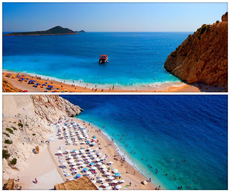 Красивые пейзажи Турции - пляж Капутаж