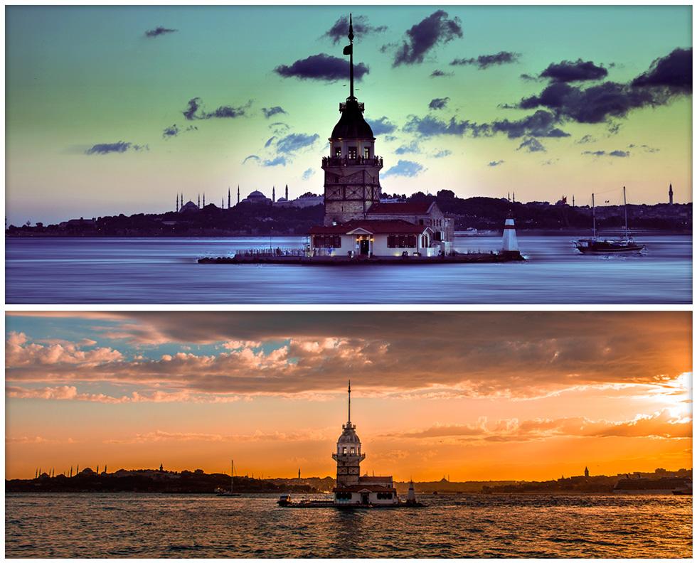 Красивые виды в Стамбуле - Девичья башня
