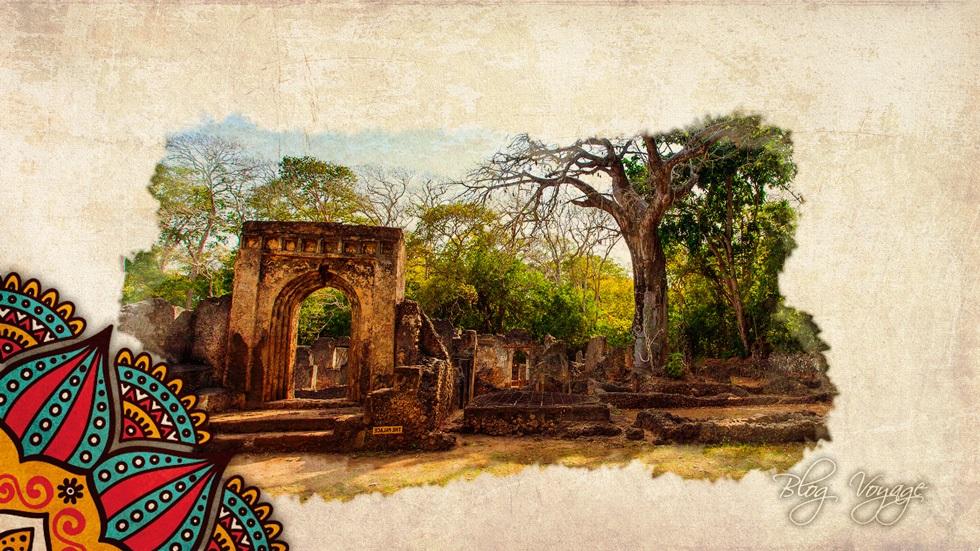 Руины Геди недалеко от Малинди в Кении