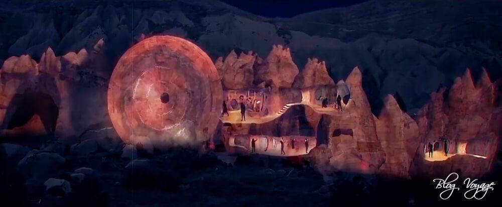 Световое шоу в долине Зельве, Каппадокия