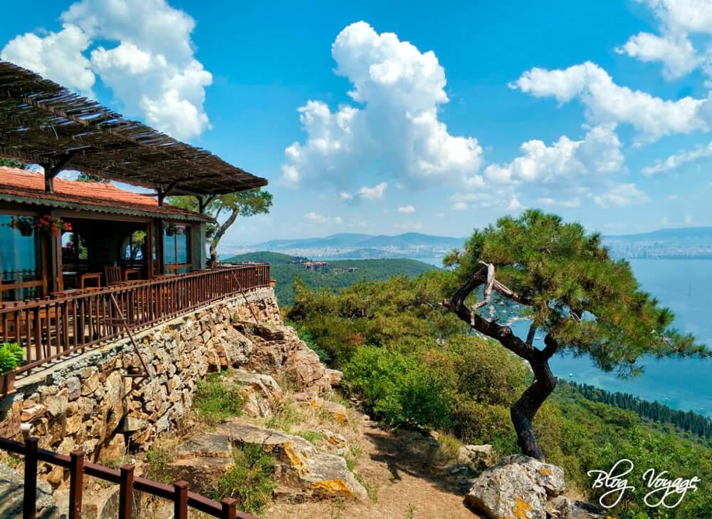 Остров Бююкада, ресторан Yücetepe Kır Gazinosu.